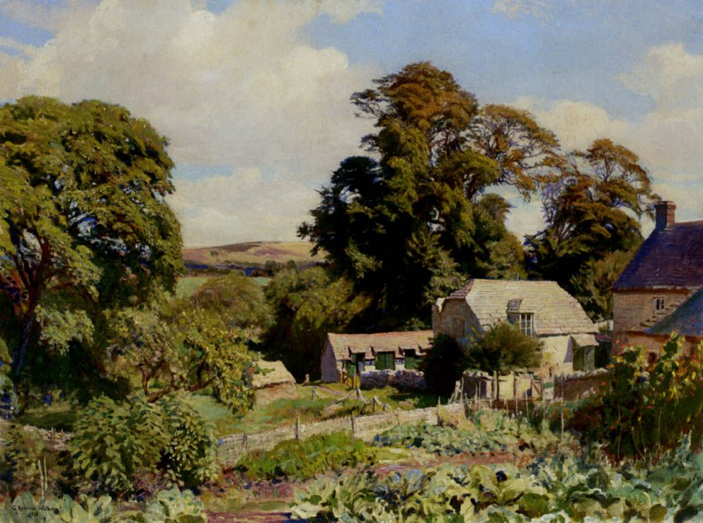 The Cottage Garden by George Spencer Watson