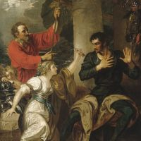 The Damsel and Orlando by Benjamin West