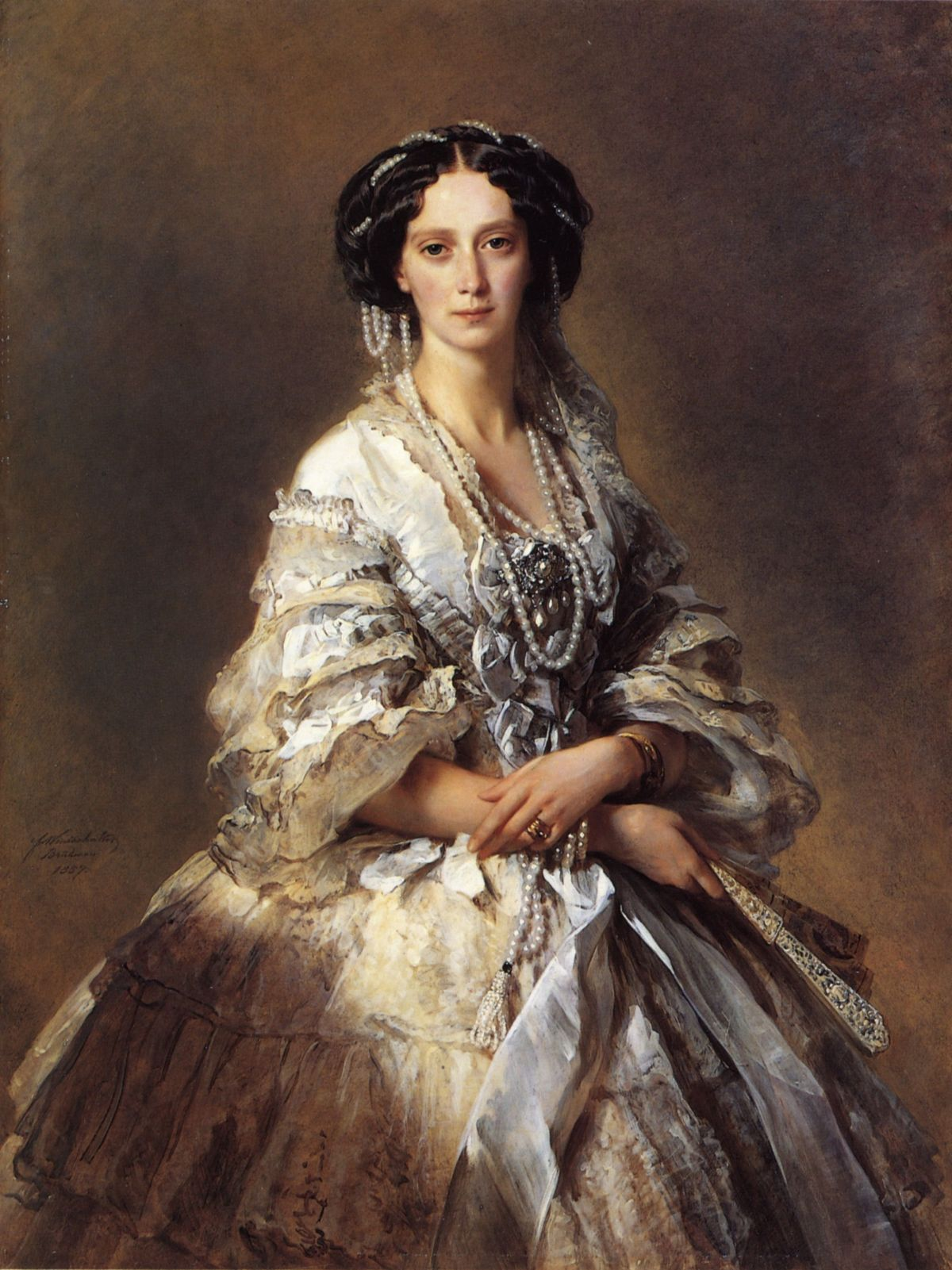 The Empress Maria Alexandrovna of Russia by Franz Xavier Winterhalter