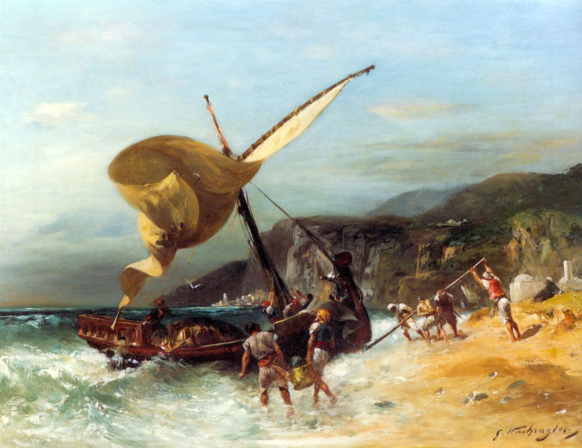 The Fishermens Departure by Georges Washington