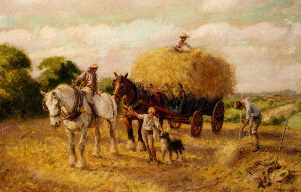 The Haymakers by Rowland Wheelwright, R B A