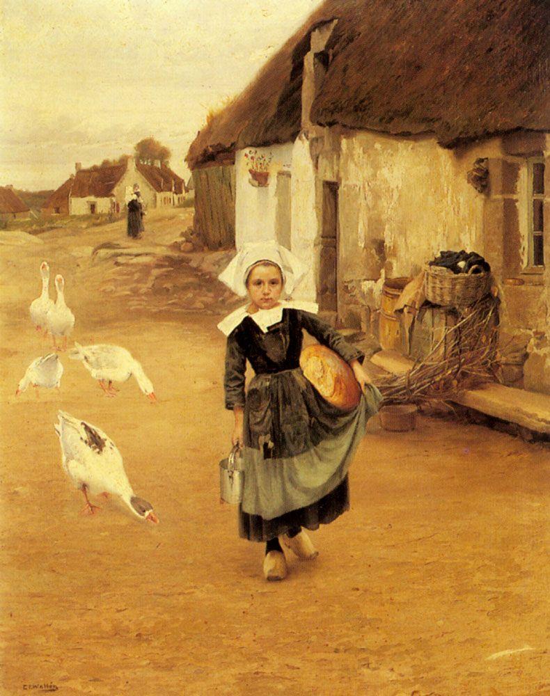 The Little Goosegirl by Gustaf Theodor Wallen