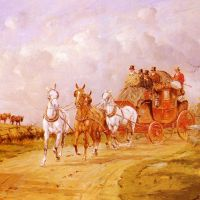 The Royal Mail Crossing A Bridge by George Wright