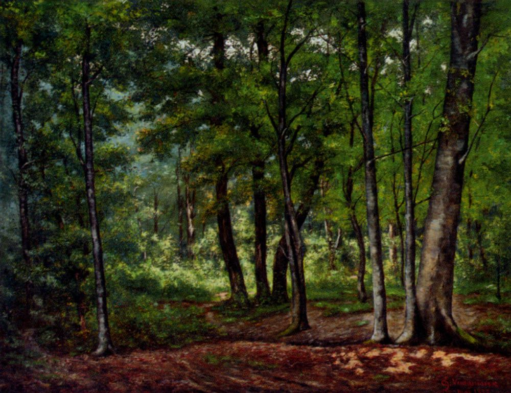 Towards A Woodland Clearing by Charles Vuagniaux