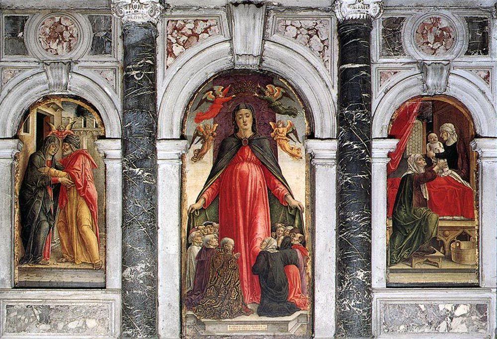 Triptych by Bartolomeo Vivarini