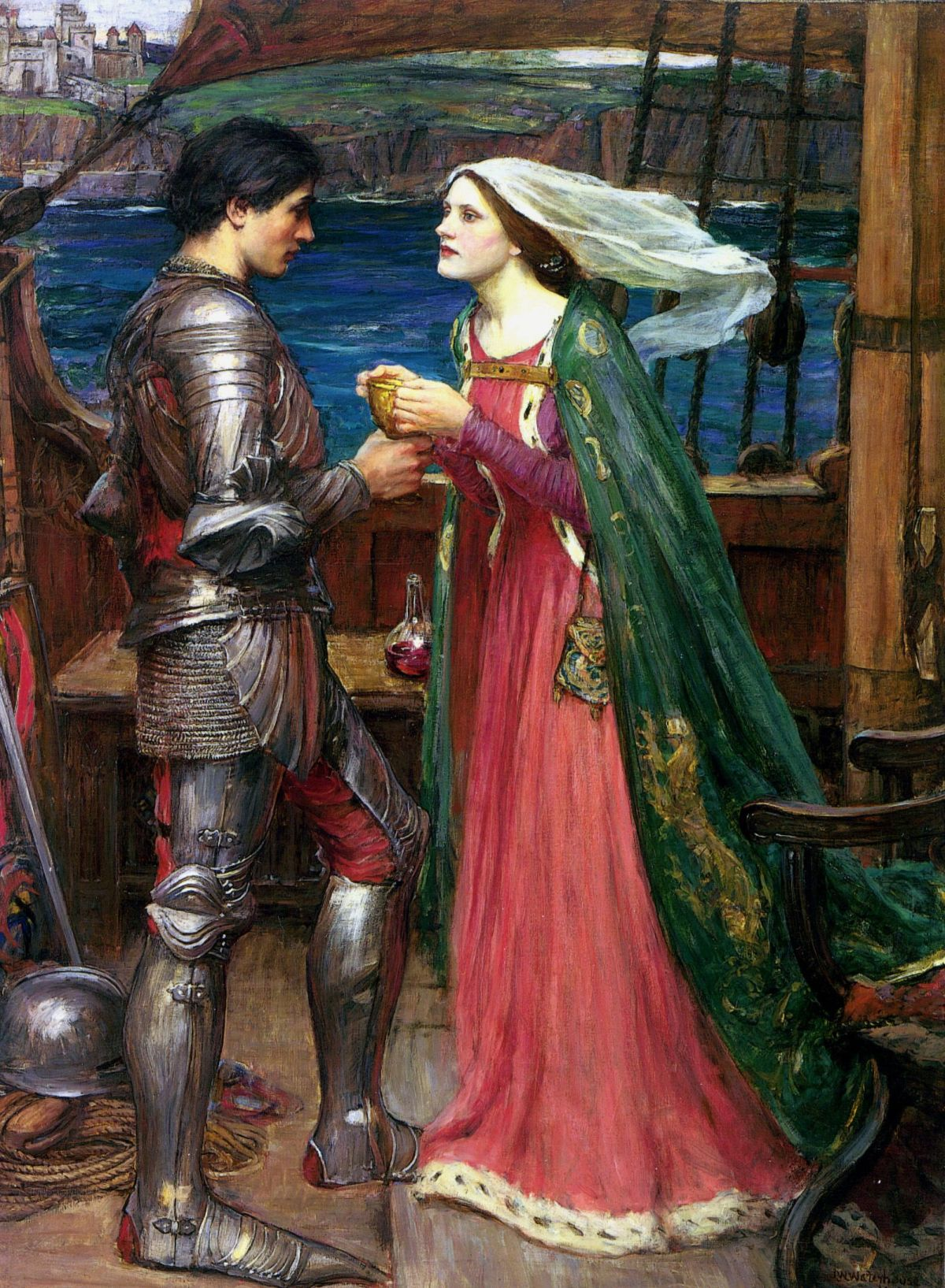 Tristan and Isolde with the Potion by John William Waterhouse