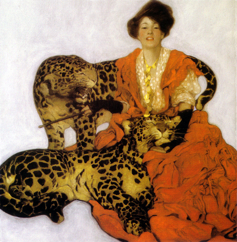 Woman with Leopards by Sarah Stilwell Weber
