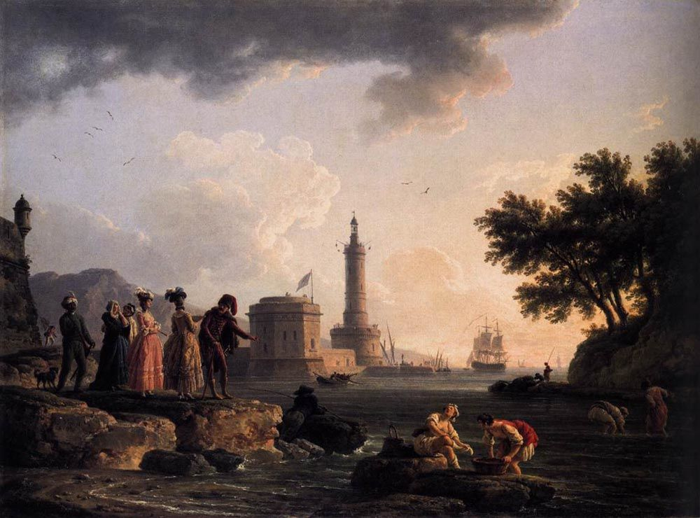 A Seashore by Claude Joseph Vernet