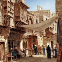 A Street In Boulaq Near Cairo by John Varley Junior