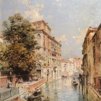 A View in Venice, Rio S. Marina by Franz Richard Unterberger