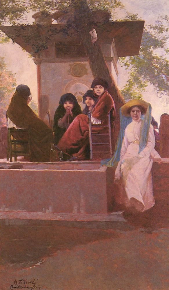 At the Temple of Sweet Waters by Boris Theo Vessely