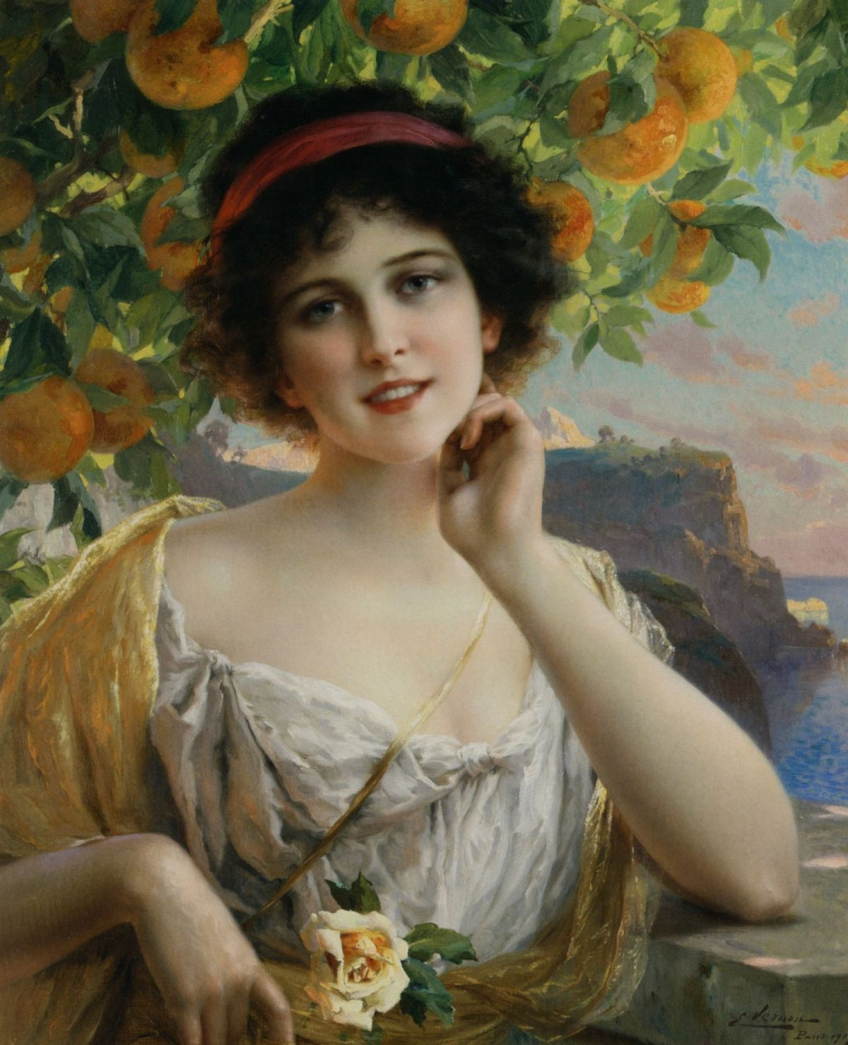 Beauty Under the Orange Tree by Emile Vernon
