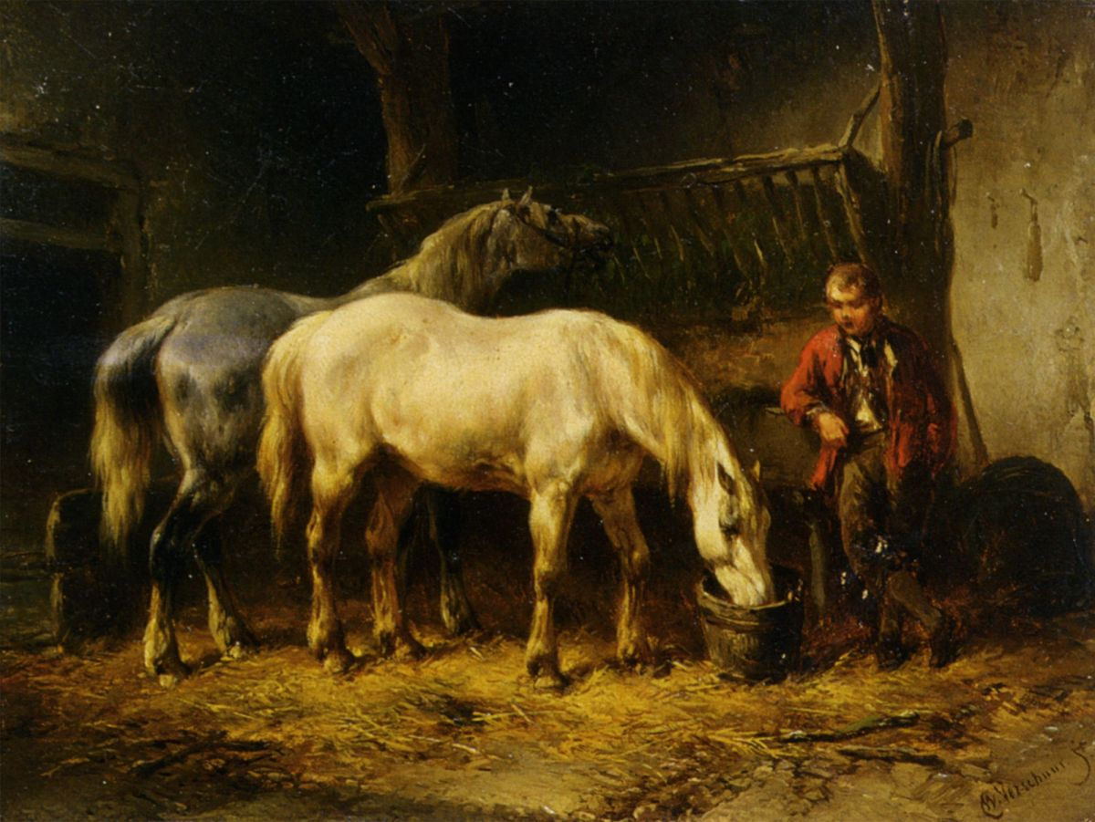 Feeding the Horses by Wouter Verschuur