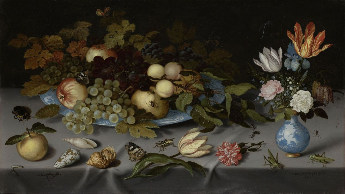 Flowers and Fruit by Balthasar Van Der Ast