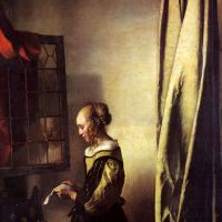 Girl Reading a Letter at an Open Window by Johannes Vermeer