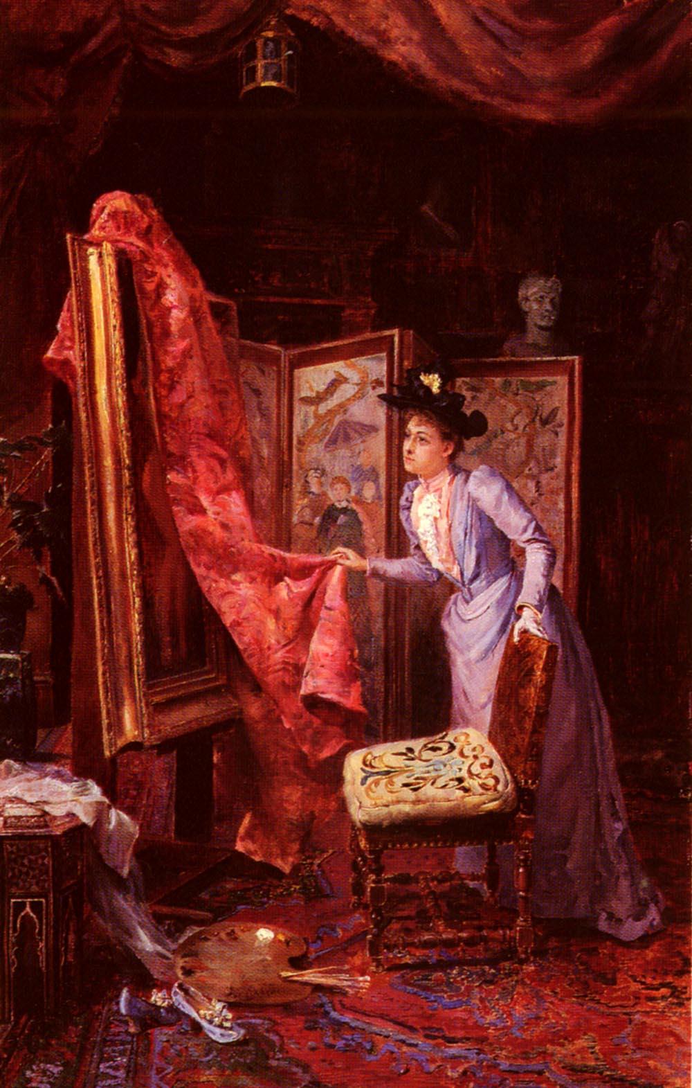Il Studio Da Pittura by Achille Vianelli