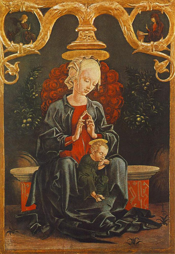 Madonna and Child in a Garden by Cosme Tura