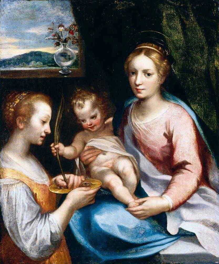 Madonna and Child with St Lucy by Francesco Vanni