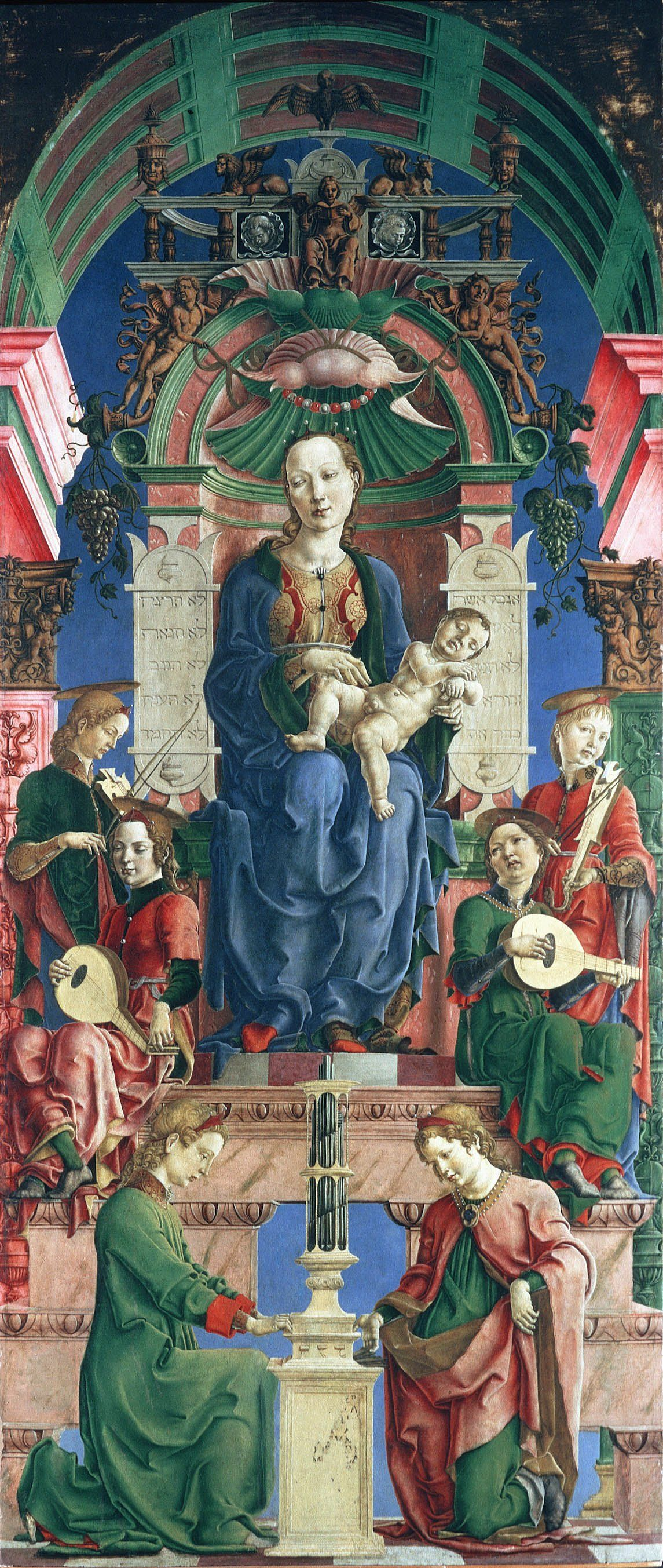 Madonna with the Child Enthroned panel from the Roverella Polyptych by Cosme Tura