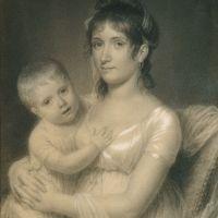 Mrs. Daniel Strobel, Jr. (Anna Church Strobel) and Her Son, George by John Vanderlyn