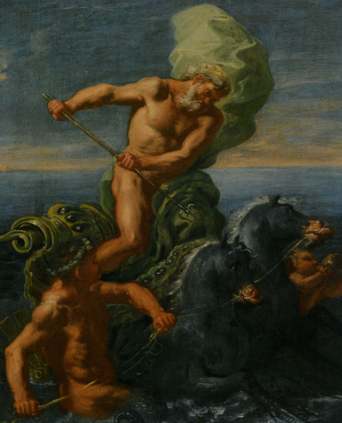 Neptune and his Chariot of Horses by Domenico Antonio Vaccaro