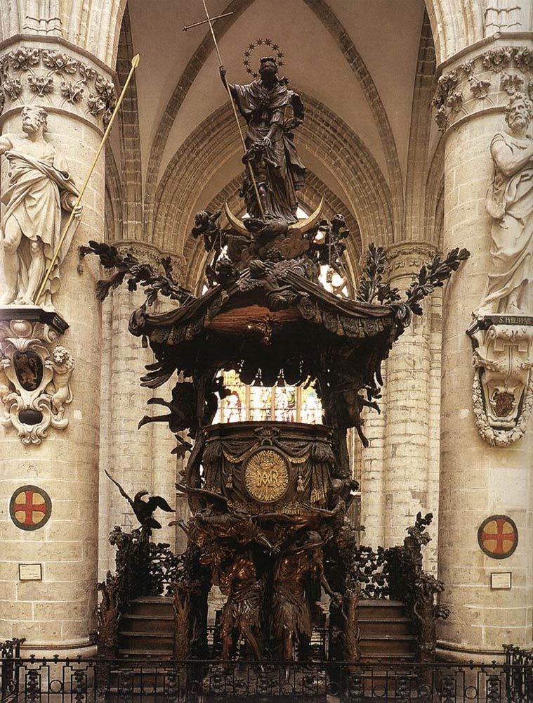 Pulpit by Hendrick Frans Verbruggen