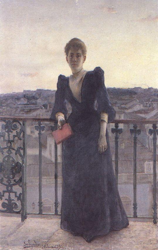Retrato de Mrs Hirsch by Jose Maria Veloso Salgado