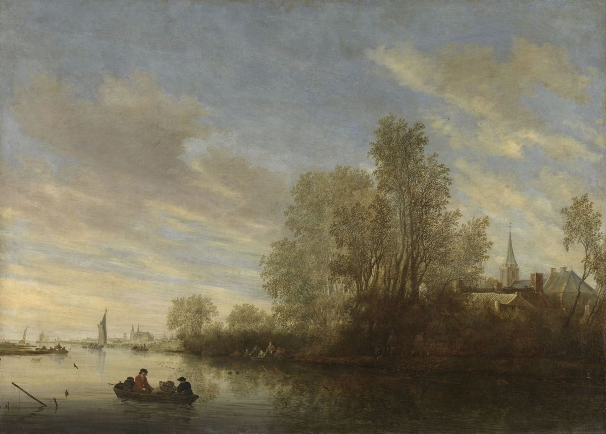 River View near Deventer by Salomon van Ruysdael
