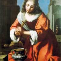 Saint Praxidis by Johannes Vermeer