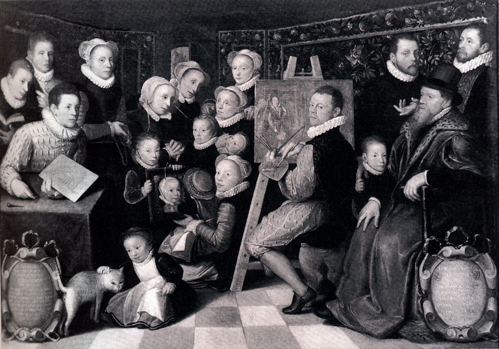 Self portrait Of The Artist With His Family by Otto van Veen