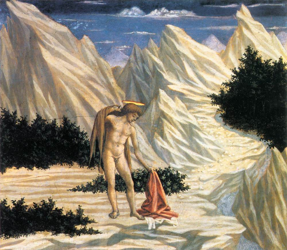 St John in the Wilderness predella 2 by Domenico Veneziano