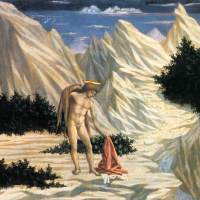 St John in the Wilderness (predella 2) by Domenico Veneziano