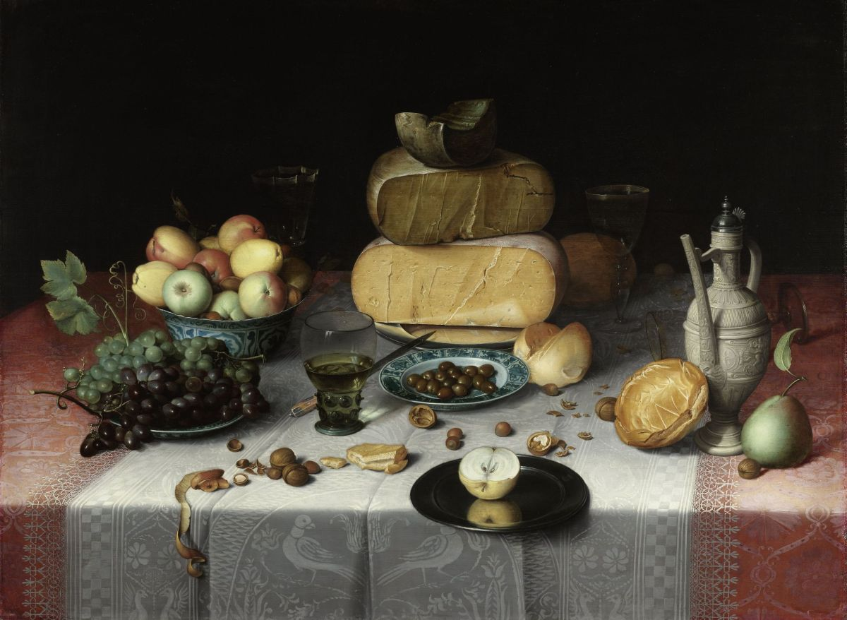 Still Life with Cheeses by Floris Claesz van Dijck