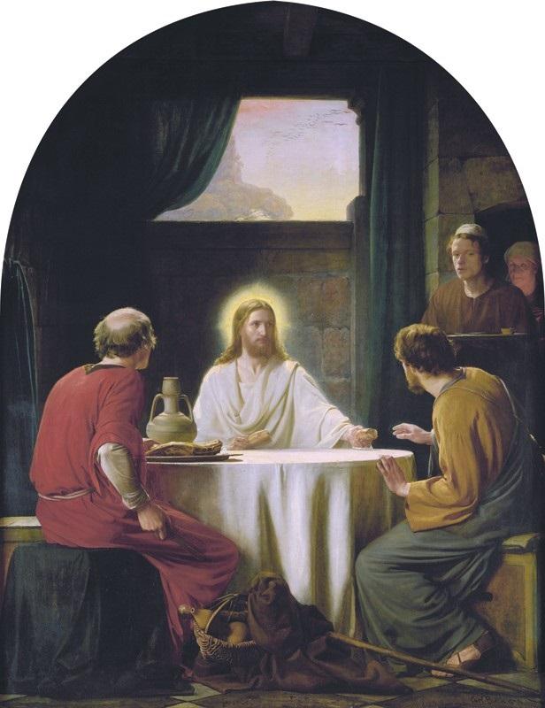 Supper at Emmaus by Carl Heinrich Bloch