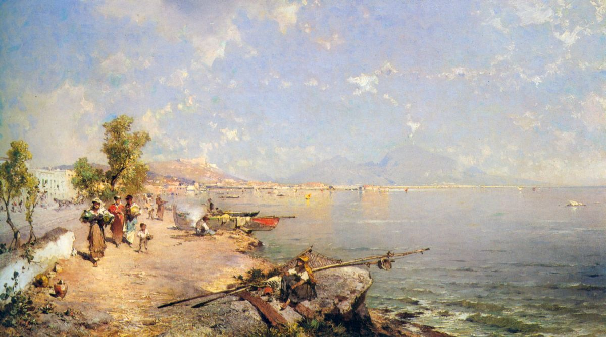 The Bay of Naples by Franz Richard Unterberger
