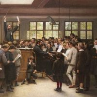 The Choir Lesson by Auguste Joseph Trupheme