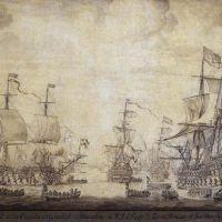 The Council of War on Board 'De Zeven Provincien', the Flagship of Michiel Adriaensz de Ruyter, on 10 June 1666 by Willem van de Velde the Elder