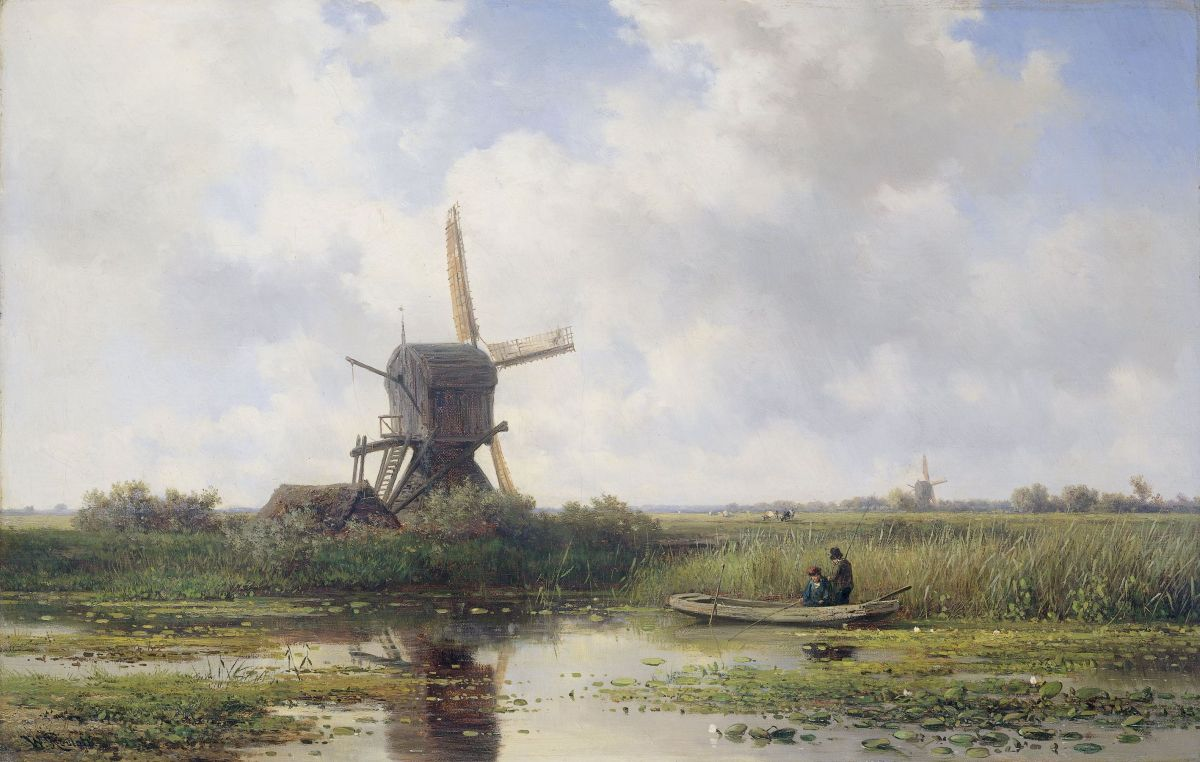The Gein River Near Abcoude by Willem Roelofs