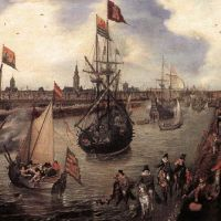 The Harbour of Middelburg by Adriaen Pietersz. van de Venne