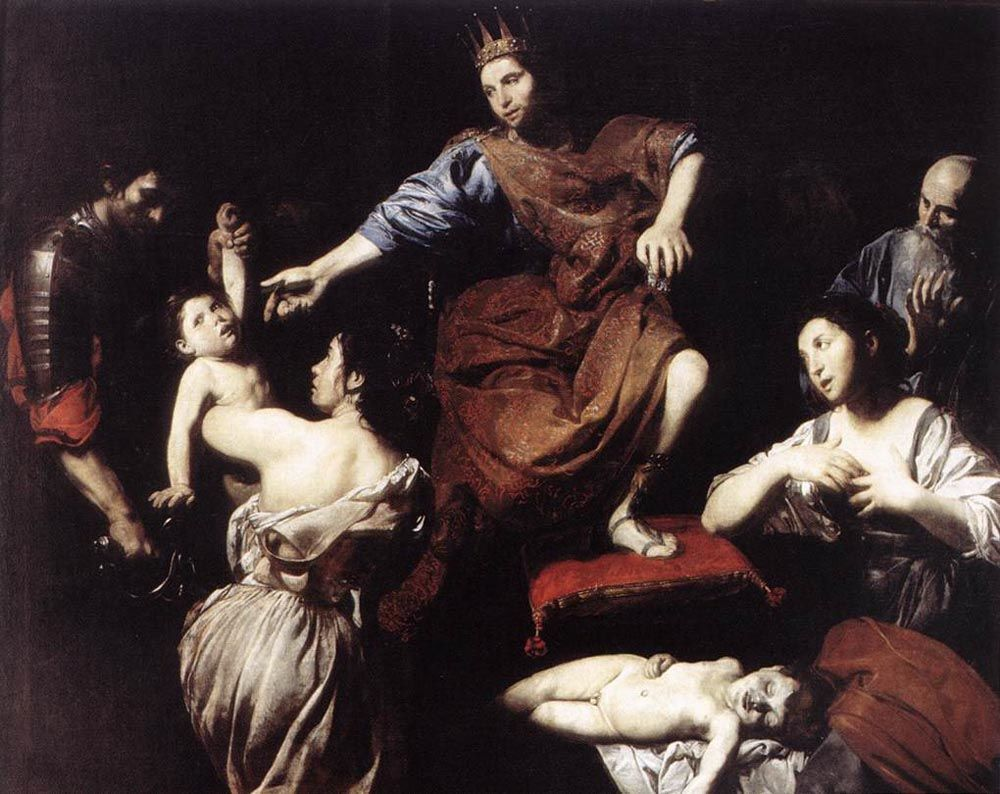 The Judgment of Solomon by Jean de Boulogne Valentin