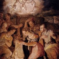 The Nativity With The Adoration Of The Shepherds by Giorgio Vasari