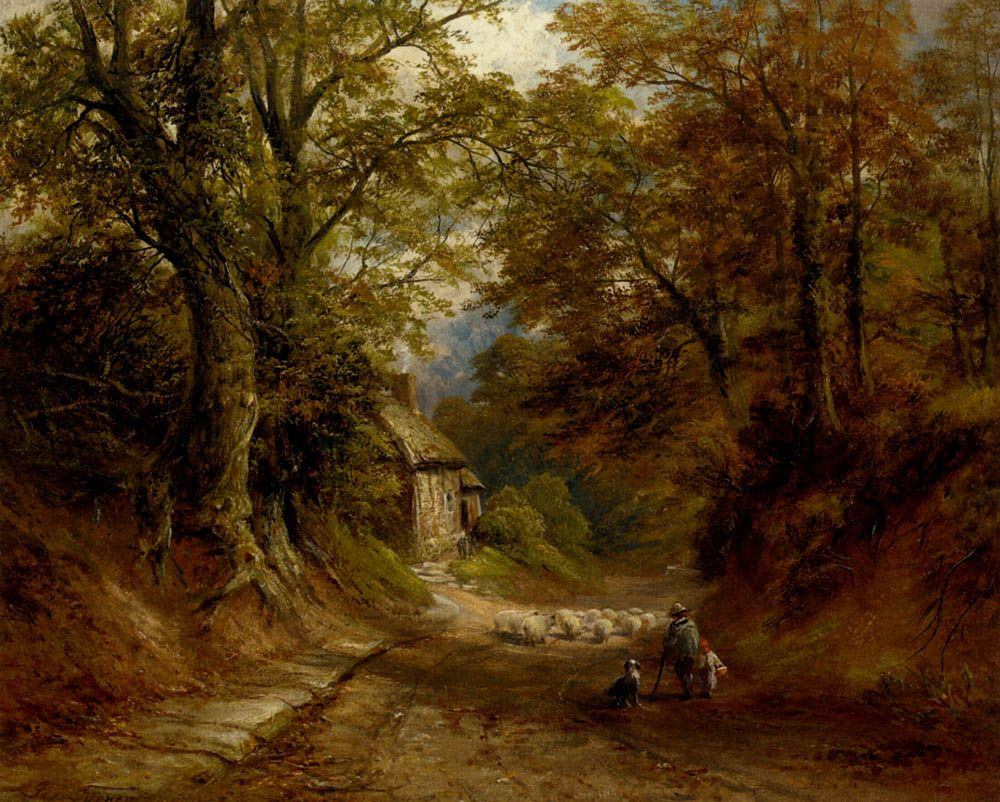The Old Cottage Littleover Lane by George Turner