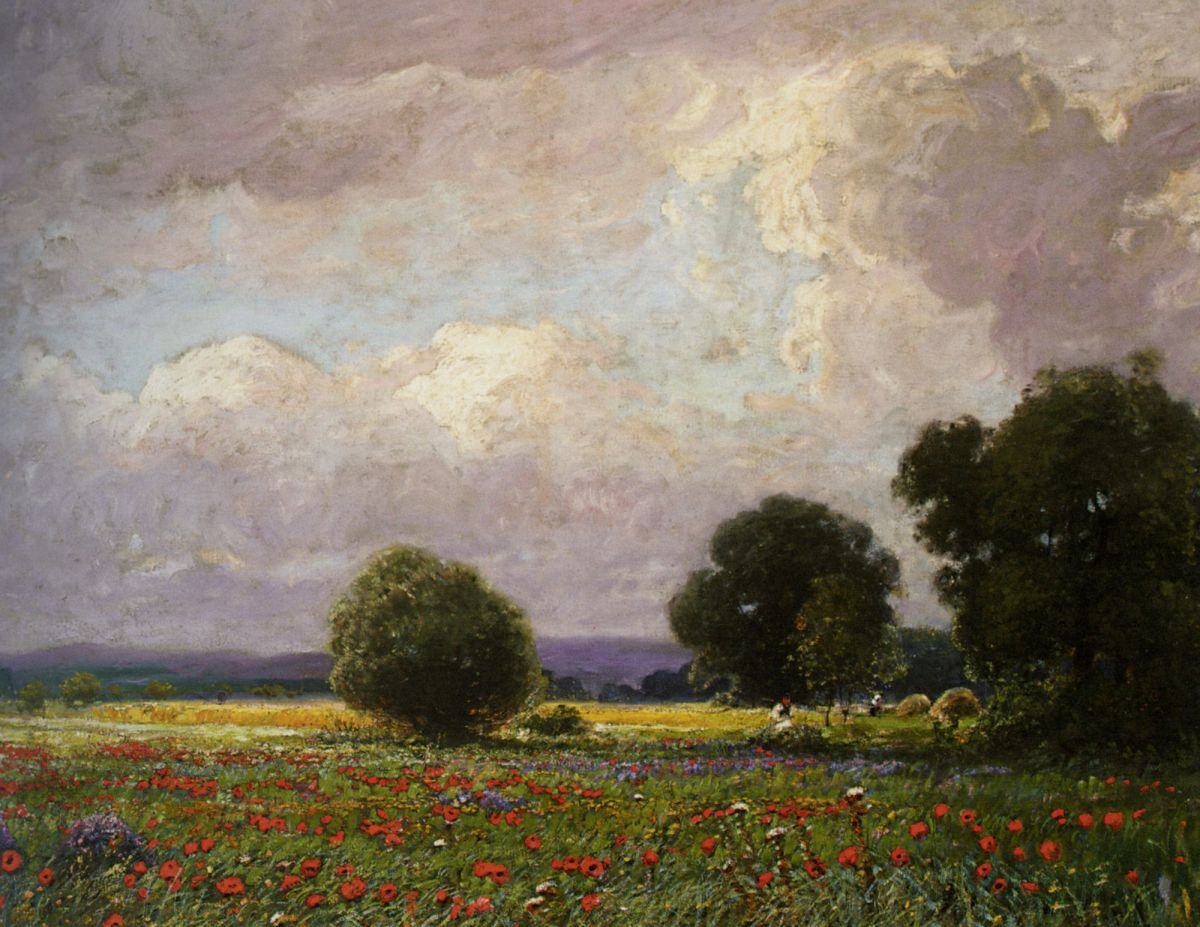The Poppy Field by Ignac Ujvary
