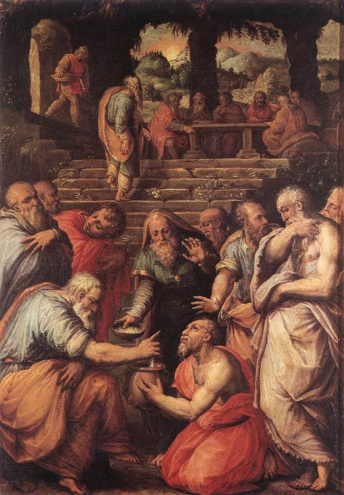 The Prophet Elisha by Giorgio Vasari