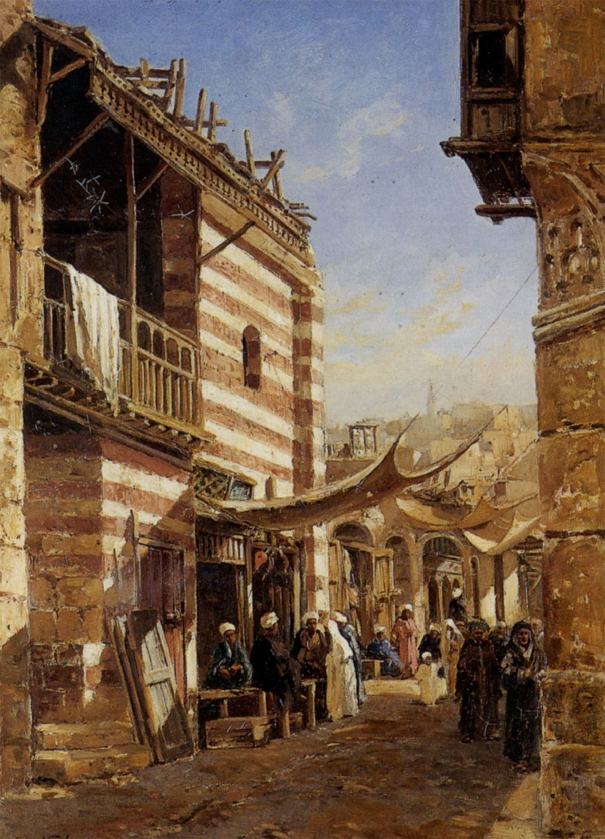 The School near the Babies Sharouri Cairo by John Varley Junior