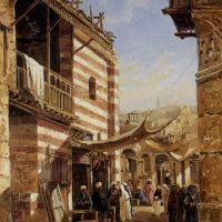 The School near the Babies Sharouri Cairo by John Varley Junior