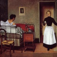 The Sick Girl by Felix Vallotton