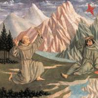 The Stigmatisation of St Francis (predella 1) by Domenico Veneziano