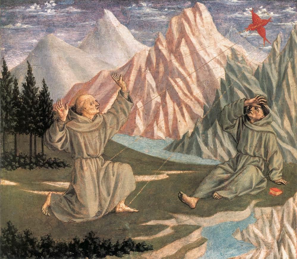 The Stigmatisation of St Francis predella 1 by Domenico Veneziano