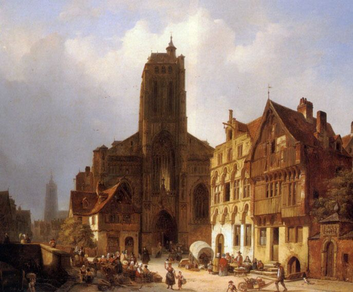 The market square in Brunswick by Ambrose Vermerrsch